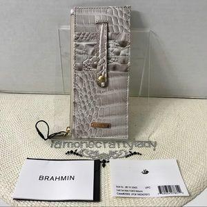 Brahmin Credit Card Wallet PUMICE MELBOURNE New